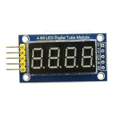 4 Bits Digital Tube LED Display Module Circuit Board With Clock For Arduino DIY