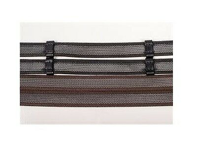 Gallop  Continental /  Super Grip Rubberised Reins -Pony Cob Full - Black Brown