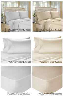Luxury Egyptian Cotton 200 Count Bedding - Duvet Cover, Fitted, Flat, Pillowcase