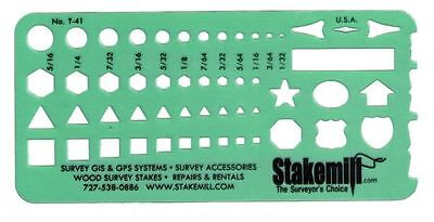 Alvin 41T Timely Small Shapes Template Drafting, Survey, Construction (set of 5)