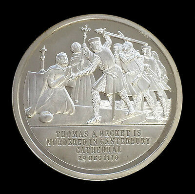 1972 Silver Great Britain 1.2 Oz Thomas A. Becket English Speaking People Medal