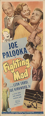 Fighting Mad 1948 Original Movie Poster Comedy Drama Sport