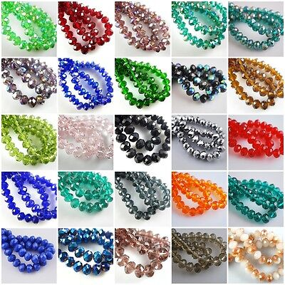 HOT!Wholesale Glass Crystal Faceted Rondelle Spacer Loose Beads 10/12/14/16/18mm