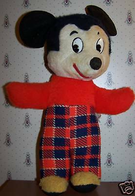 "VINTAGE Standing 13"" Plush Mickey Mouse  J Swedin Inc"