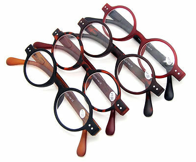 Small Oval Round Retro Vintage Reading Glasses Spring Hinges 1.0~1.5~2.0~2.5~3.0