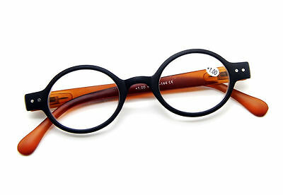 Unisex Retro Nerd Round Oval Designer Reading Glasses SPRING HINGES 1.0~2.0~3.0