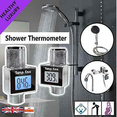 Water Power Digital Shower thermometer, Temperature with Digital Display Screen