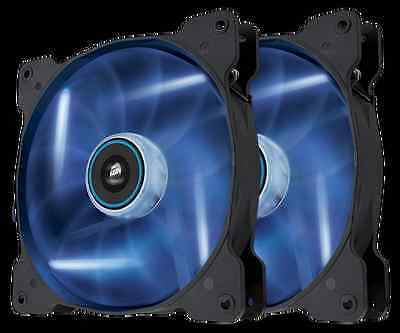 Corsair SP140 Air Blue LED High Pressure 140mm Twin Pack - CO-9050036-WW
