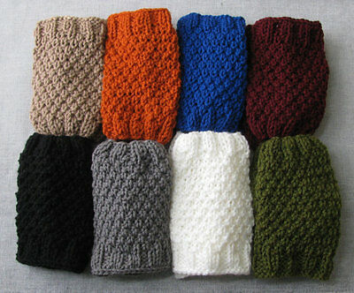 Hand Knitted Boot Cuffs Toppers Australia Made