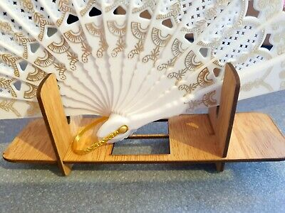 Joblot of 24 pcs Wooden Hand Fan display stands NEW Wholesale