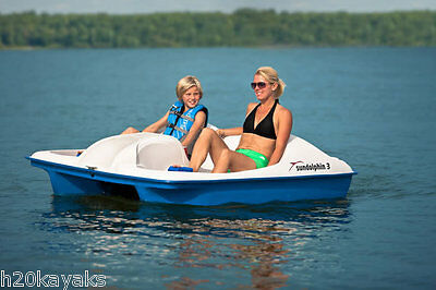 Sun Dolphin 3 Seat Pedal Boat New Stainless Steel Crank