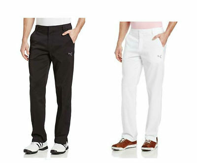 b21137ab18c8 PUMA Golf Mens Solid Tech Style Pants Black White pic size and color NWT