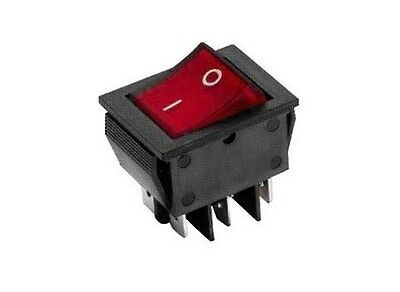 Interruttore a bilanciere 220V 16A bipolare rosso luminoso 12V switch 31x25