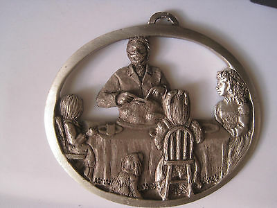 Hampshire Pewter 1991 'holiday Meal'  Christmas Ornament