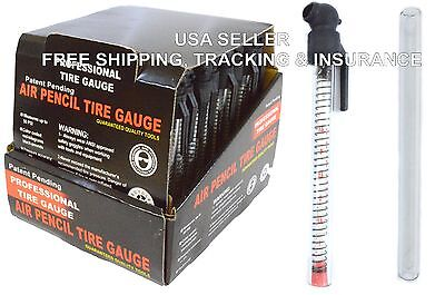 1 Box Glass Tire Gauge 48 Tube Air Pencil Rose Silk Pen Fancy Big Auto NEW ITEM