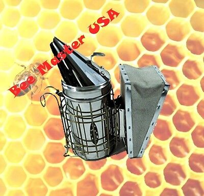 Pro's Choice Best Bee Hive  Smoker  Stainless Steel with Heat Shield Small Size.