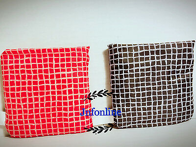 Lot of 6 New IKEA Foldable Pocket Reusable Shopping Tote Bags - red & black
