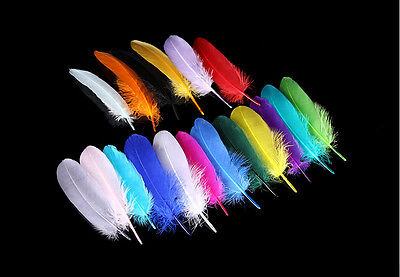 Wholesale 10/50/100/500 PCS Beautiful Goose Feather 15-20 cm/ 6-8 inches