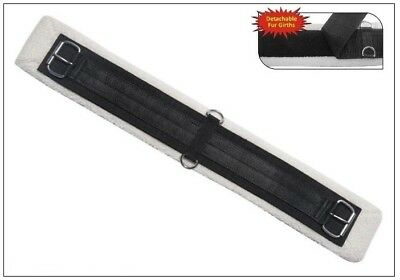 Western Stock Saddle Girth with Detachable Synthetic Lambs Wool
