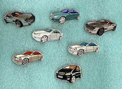 7 Mercedes Pins NEU