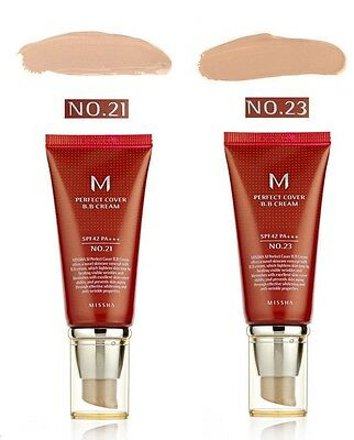 Missha BB Cream NO.23/21 Perfect Cover Foundation Anti Wrinkle Blemishes Healing