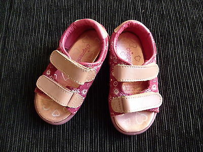 Baby clothes GIRL sandals 18-24m size 23 (UK-6) pink leather uppers SEE MY SHOP!