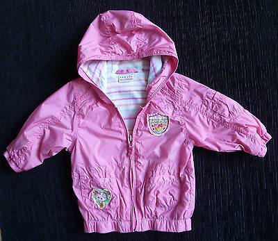 Baby clothes GIRL 6-9m NEXT lightweight rainproof cotton-lined pink zip jacket