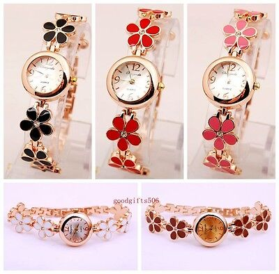 New 10pcs Fashion Flower band girls woman lady Metal Wrist watches gifts SW11