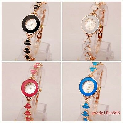 New 10pcs Fashion Hat Band crystal girls ladies woman Metal Wrist watches SW10