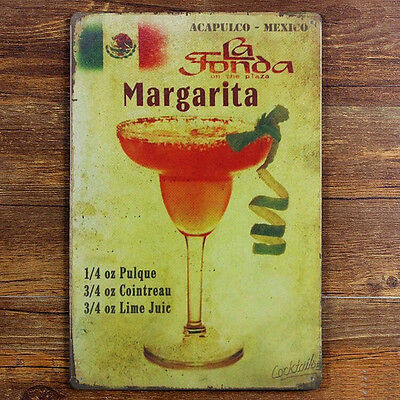 Margarita Tin Sign Vintage Metal Plaque Poster Bar Pub Home Wall Decor