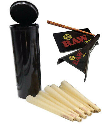 15x RAW Classic King Size Pre-Rolled Cones-110mm-  Rolling Paper  w Dram