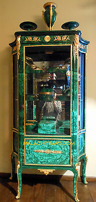Antique Malachite & Bronze  Vitrine/cabinet