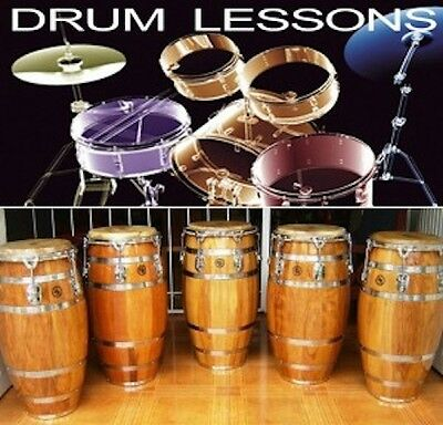 Skype drum kit and or hand drum lessons