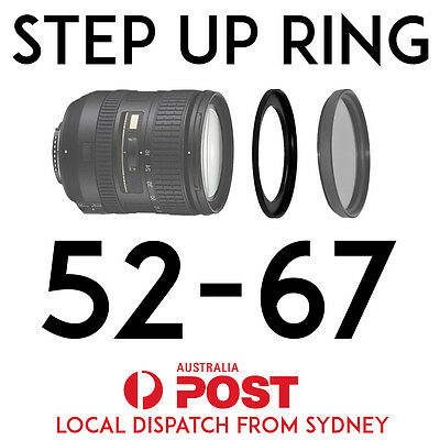 52-67mm Step-Up Ring Lens Adapter for Filters 52mm-67mm Step Up BRAND NEW