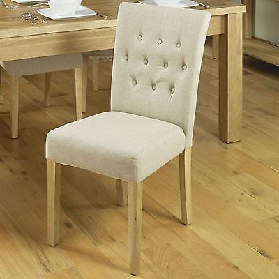 Mobel solid oak furniture set of four flare back dining room chairs