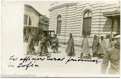 Guerre Balkaniques  Correspondance  Officiers. Carte Photo. Sofia .turcs