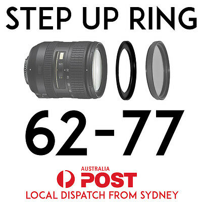62-77mm Step-Up Ring Lens Adapter for Filters 62mm-77mm Step Up BRAND NEW