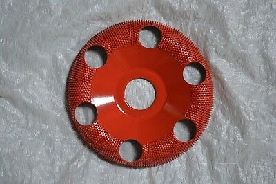 "Saburr-Tooth DW470H Red 4"" Donut Wheel Round Face (Medium Grit) 7/8"" Bore"