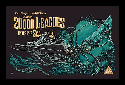 20,000 LEAGUES UNDER THE SEA  framed movie poster 11x17 Quality Wood Frame