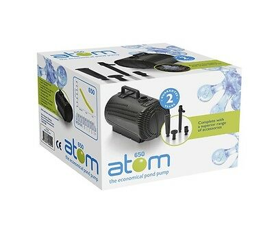 Atom 650 Submersible Outdoor Garden Fountain Water Pond Pump With Attachments