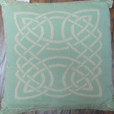"Celtic Knot  DesignTapestry Throw Pillow Seafoam Green in Color Size 17"" X 17"""