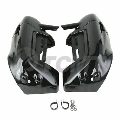 Vivid Black Lower Vented Leg Fairings For Touring Road King Electra Glide Ultra
