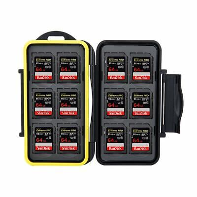 Professional Rugged Waterproof Memory Card Case ( 12 x SD) Black