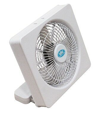 "Prem-i-air Square 6"" USB / Battery PC Office Computer Laptop Desktop Desk Fan"