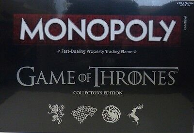 MONOPOLY GAME OF THRONES Collectors Edition  (Englisch)  NEU