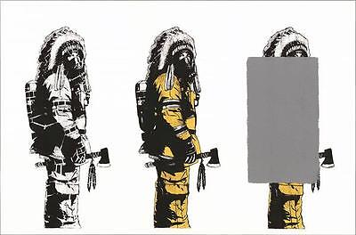 DOLK - 3x Chief Huge print signed & numbered ed. 100 | Street urban art graffiti