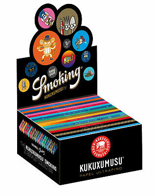 1 Box (50x) Smoking Kukuxumusu Papers King Size slim Blättchen NEW EDITION!
