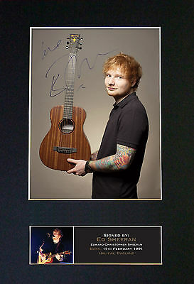ED SHEERAN No3 Signed Mounted Autograph Photo Print (A4) No400