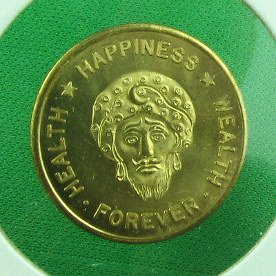 Lucky talisman of the orient Health Happiness Wealth UNC RED