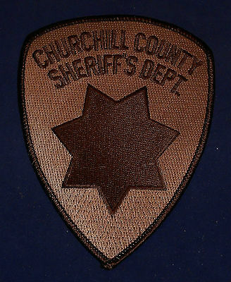 Churchill County, Nevada Sheriff's Dept. Police Shoulder Patch (invp2528)